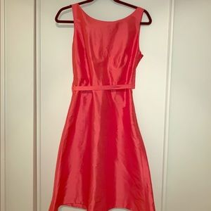 J. Crew NWT Salmon Dress, Size 8 100% Silk